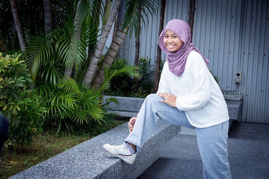 More than a year after surgery on her right knee, Nur Insyirah can easily bend and straighten it with no pain.