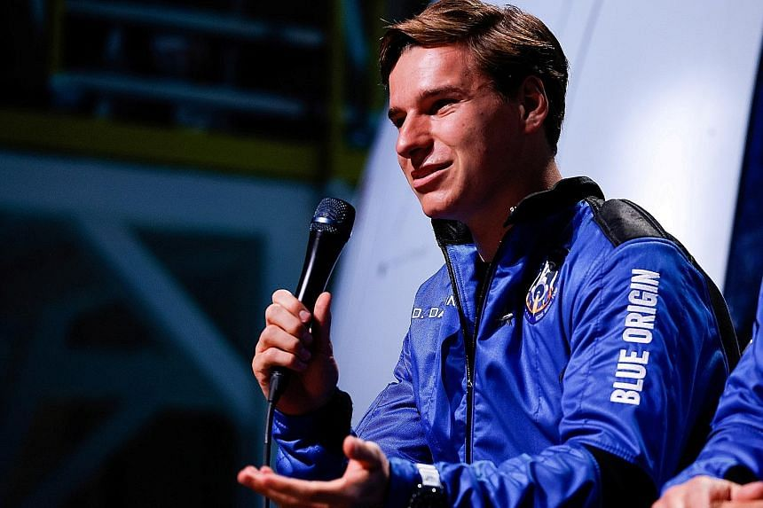 Dutch student Oliver Daemen was picked for the Blue Origin flight after another candidate cancelled at the last minute.