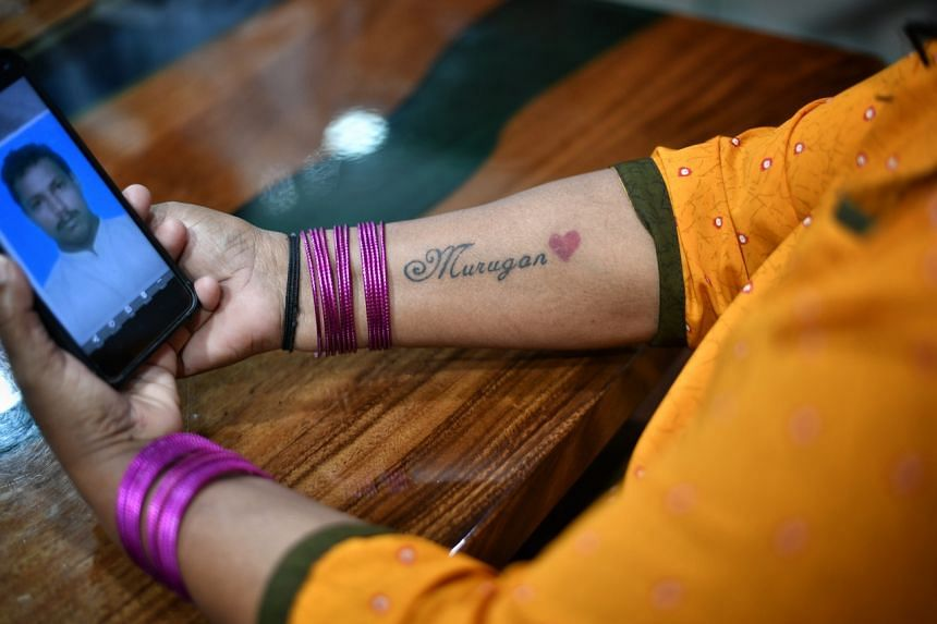Madam S. Veluthai is eager for her next prison visit as she wants to show her tattoo to her husband.