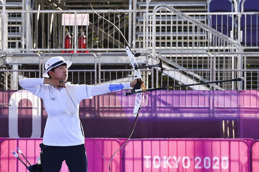 South Korean archer An San won gold in the first ever mixed team event at the Olympics.