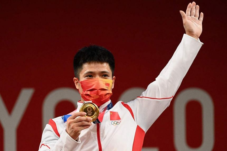 Li Fabin also became just the fifth weightlifter in history to win four Olympic medals.