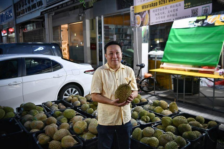 Mr Michael Siow, owner of Titi Durian, at his store on July 14, 2021.
