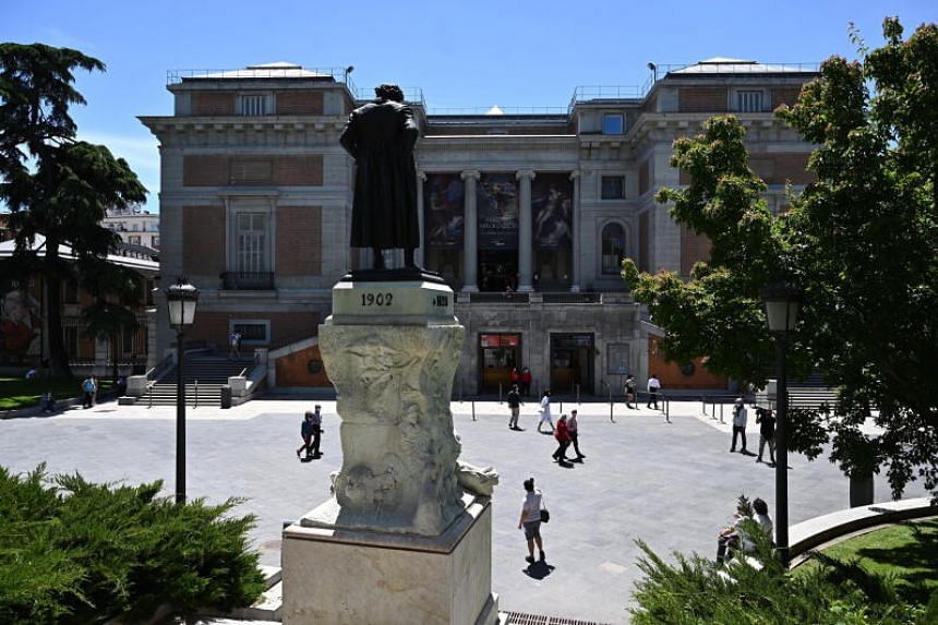 The tree-lined Paseo del Prado, in the centre of the Spanish capital, is home to the Prado museum.