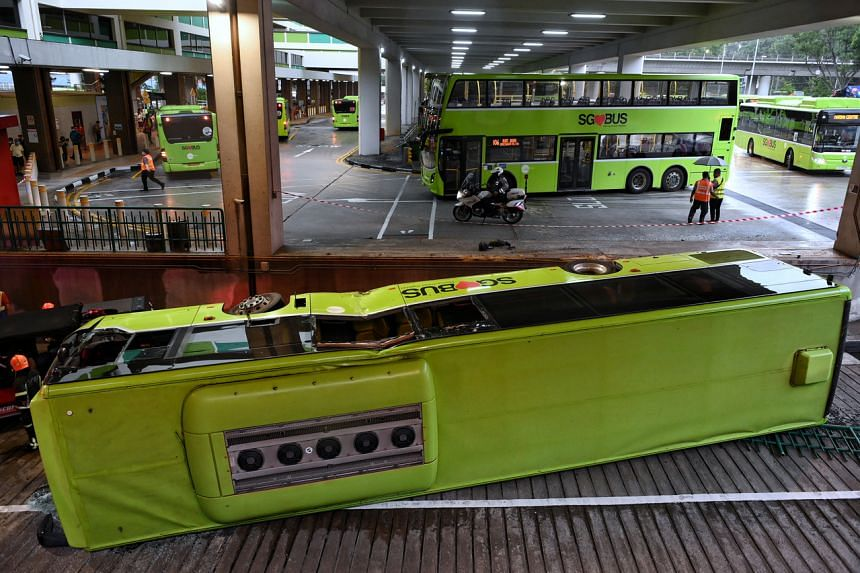 On July 11, two Tower Transit buses, both plying the feeder service route 945, collided at Bukit Batok bus interchange.