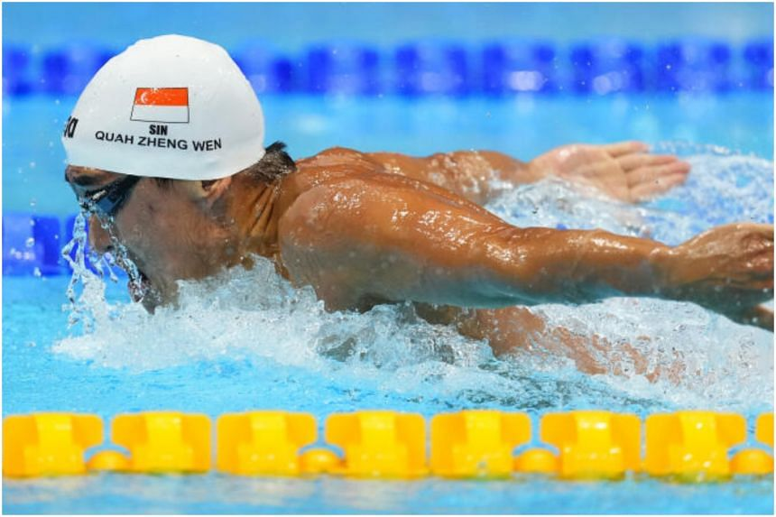 Quah Zheng Wen in action during the 200m Butterfly Heats at the Tokyo 2020 Olympic Games at Tokyo Aquatics Centre in Tokyo, on July 26, 2021.