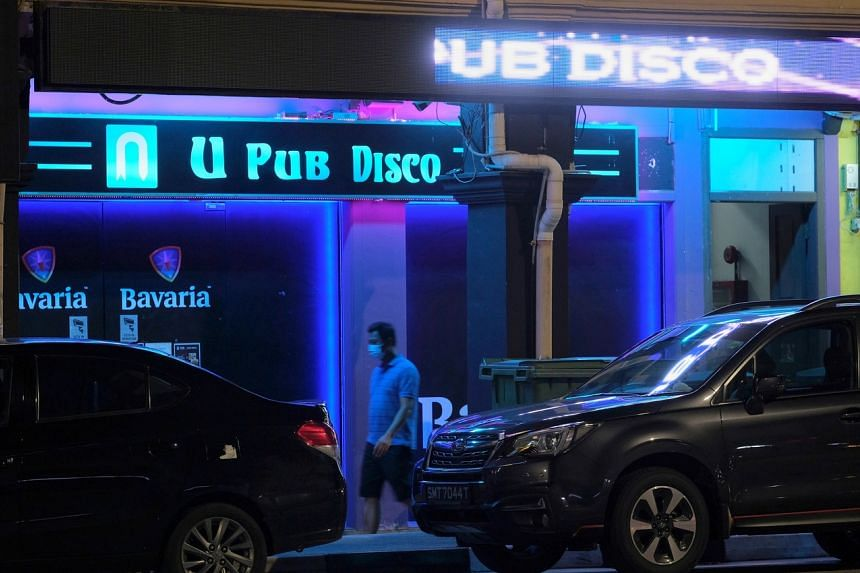 U Pub in Geylang Road was among the pivoted KTV lounges that had possibly breached safe management measures.