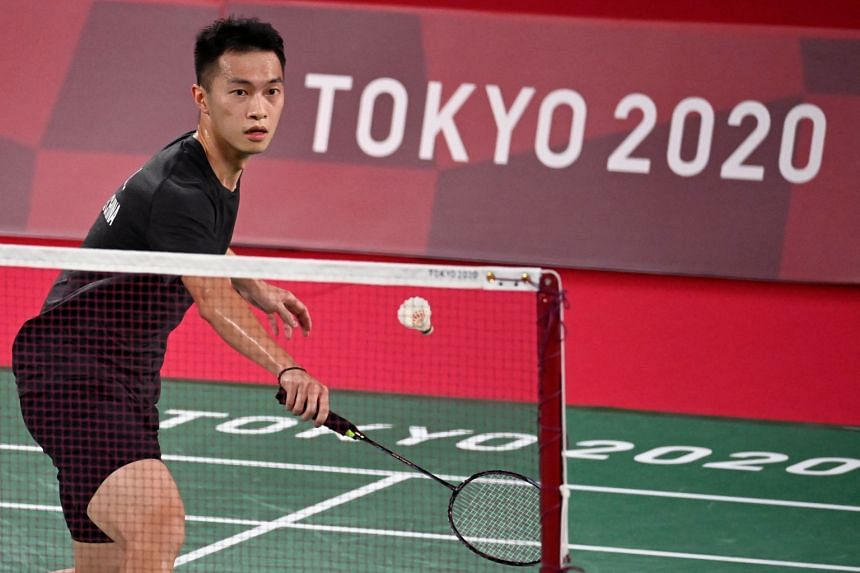 Hong Kong badminton player Angus Ng Ka-long found himself pulled into a political controversy following his first group match in Tokyo on Saturday.