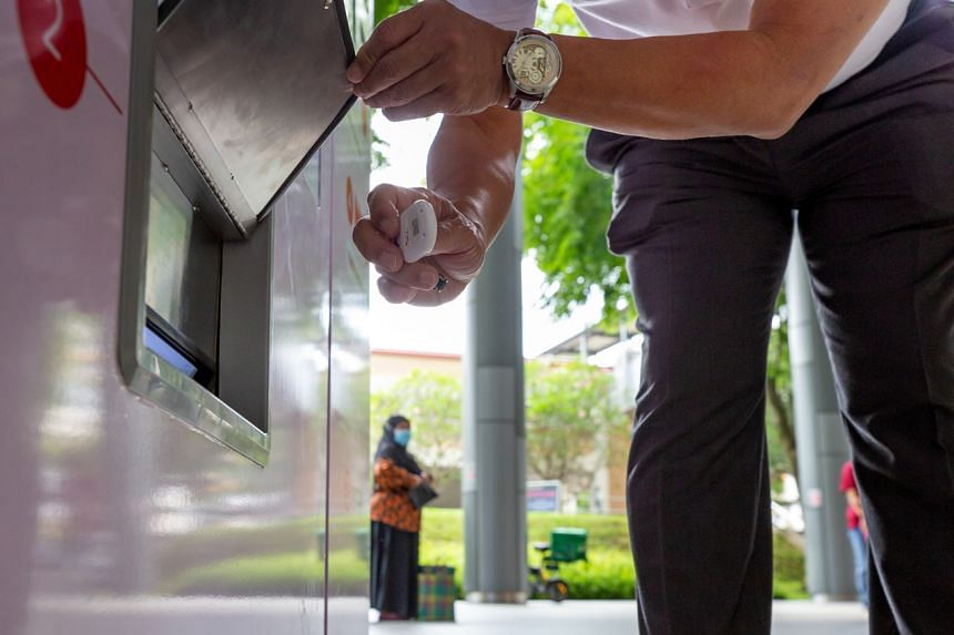 To replace an old token, users need bring their identification card and drop off their old token in a marked slot on the vending machine.