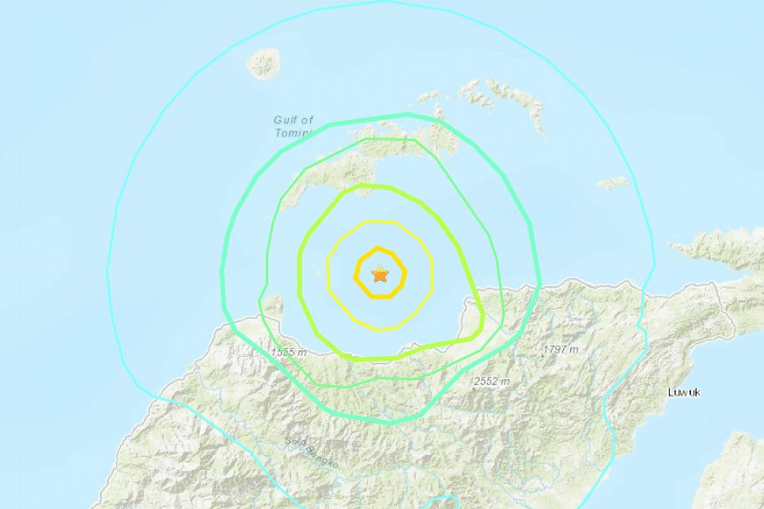 The quake was at a depth of 30km.