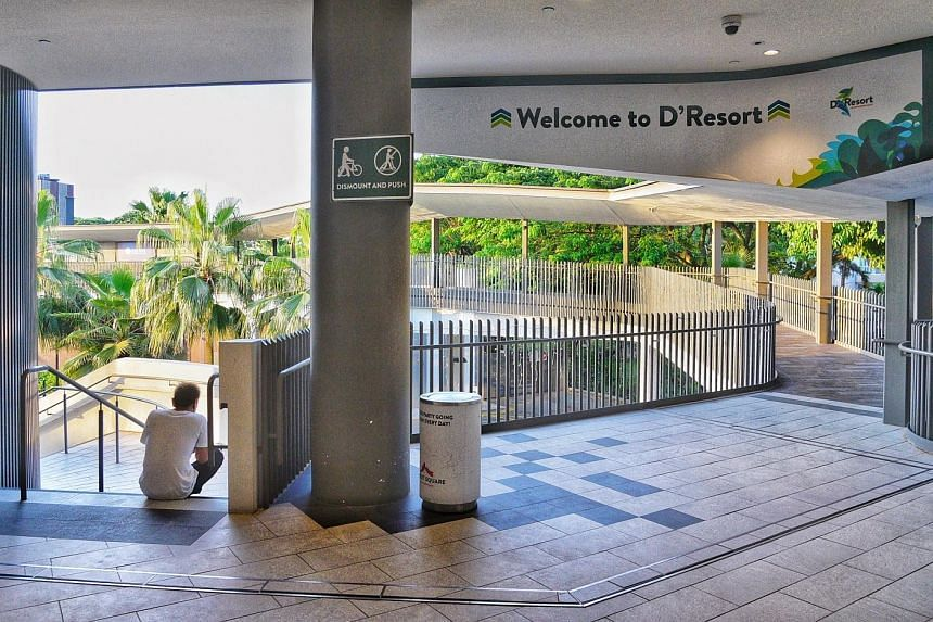 Up to 60 per cent of infected cases are now expected to recover in community care facilities such as D'Resort in Pasir Ris (above) and Civil Service Club @ Loyang.