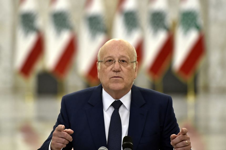 Mr Najib Mikati warned that easing Lebanon's woes would not be easy and called for unity among Lebanese.