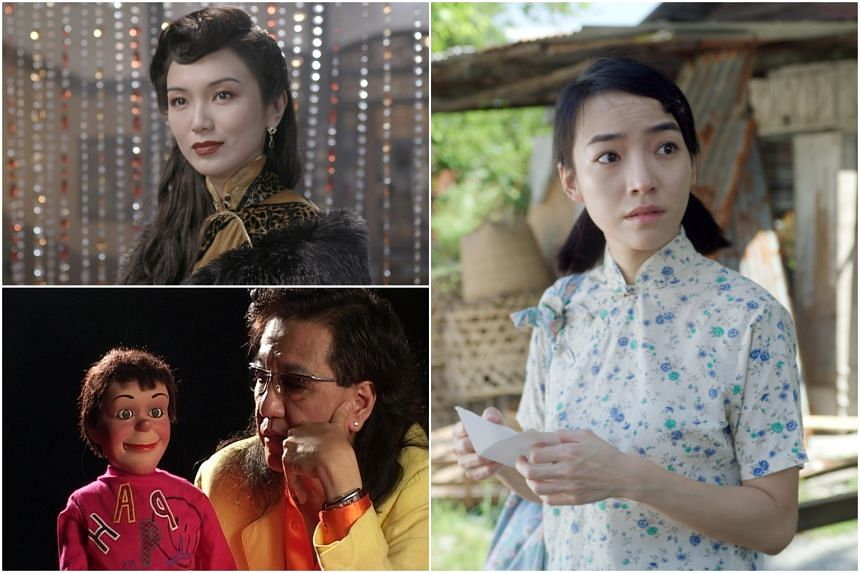 (Clockwise from top left) Joanne Peh in Last Madame, Koe Yeet in Titoudao: Inspired By The True Story Of A Wayang Star and Victor Khoo in Singapore Gaga with his puppet Charlee.