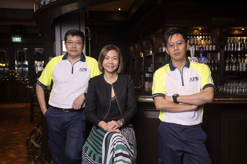 From left: APB Singapore's engineering manager Norman Goh, sales director Heng Shwu Jiun and team leader in the brewing department Chris Lee.