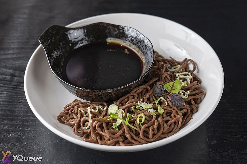 Left: The oat cookie is one of many low-GI snacks and drinks to be developed by Nutriient, a spin-off from A*Star's Singapore Institute of Food and Biotechnology Innovation. Right: Local foodtech start-up KosmodeHealth's starchless noodles, made from