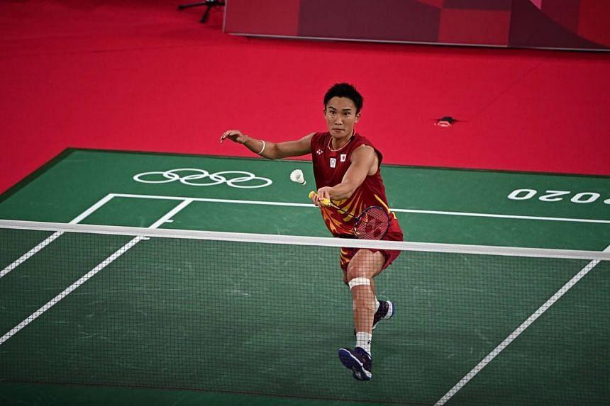 Badminton world No. 1 Kento Momota (pictured) lost to South Korean Heo Kwang-hee.