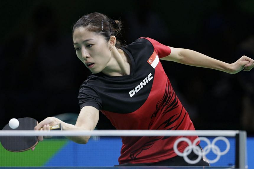 Yu Mengyu in action during the Rio 2016 Olympic Games in Brazil, on Aug 7, 2016.