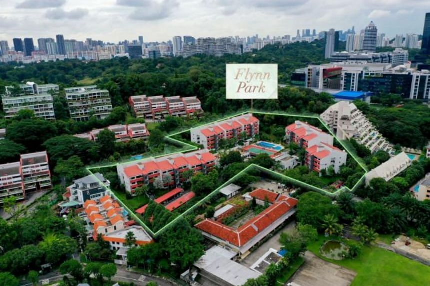Flynn Park, which is about 350m from Pasir Panjang MRT station, has a land area of about 208,443 sq ft.