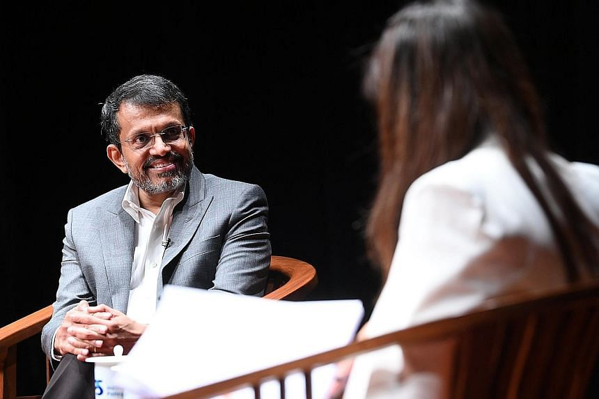 """Monetary Authority of Singapore managing director Ravi Menon was speaking yesterday on the topic """"An Inspiring Nation"""" at the Institute of Policy Studies at the Lee Kuan Yew School of Public Policy."""