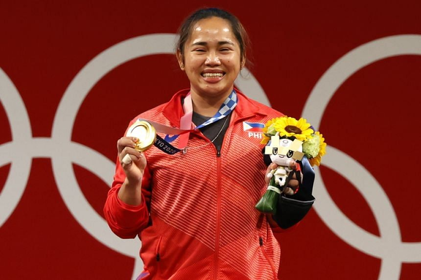 Hidilyn Diaz became the first athlete from the Philippines to win an Olympic gold medal.