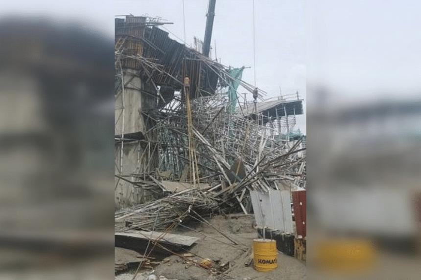 The collapse occurred in Bandar Bukit Tinggi in Klang district in Selangor.