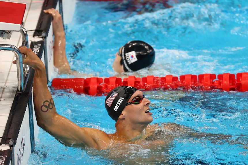 Caeleb Dressel won his first gold in the men's 4x100m freestyle relay on July 26, 2021.