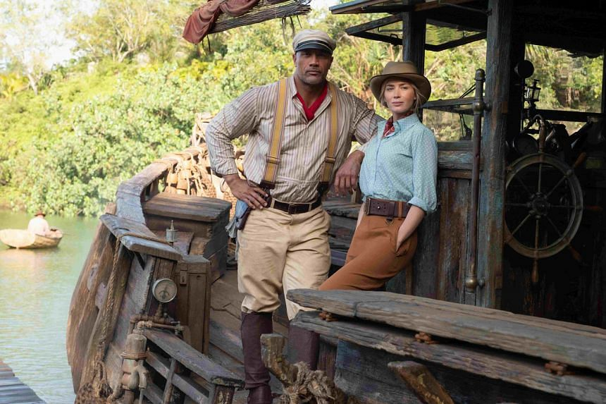 Jungle Cruise starring Dwayne Johnson (left) and Emily Blunt.