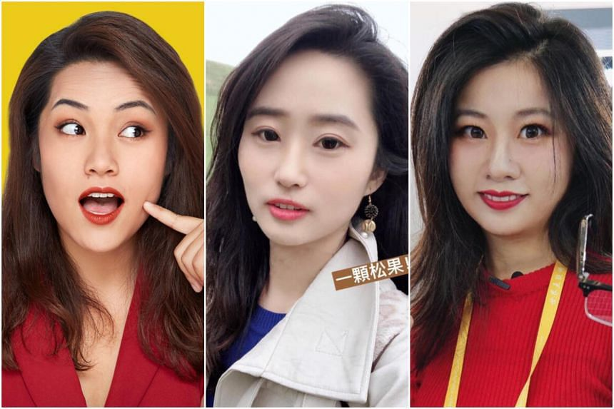 Chinese social media personalities (from left) Li Jingjing, Jessica Zang and Rachel Zhou are China Global Television Network employees who had appeared in the state broadcaster's videos.
