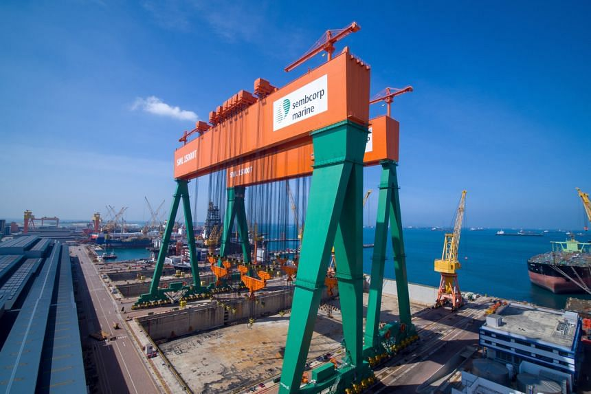 Sembmarine's revenue for the first half of the year fell 6.8 per cent to $844.2 million.