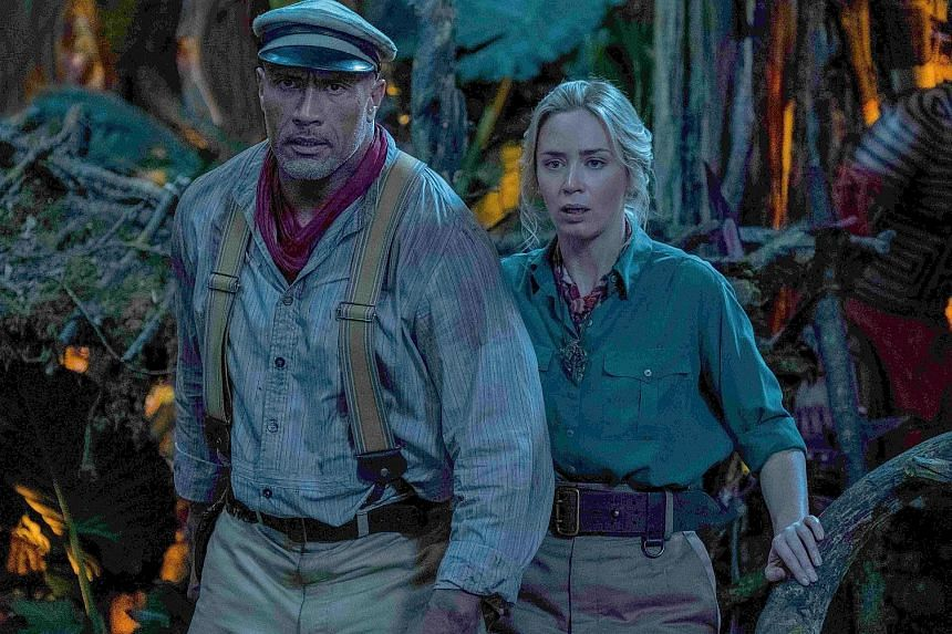 Captain Frank Wolff (Dwayne Johnson) and Dr Lily Houghton (left).
