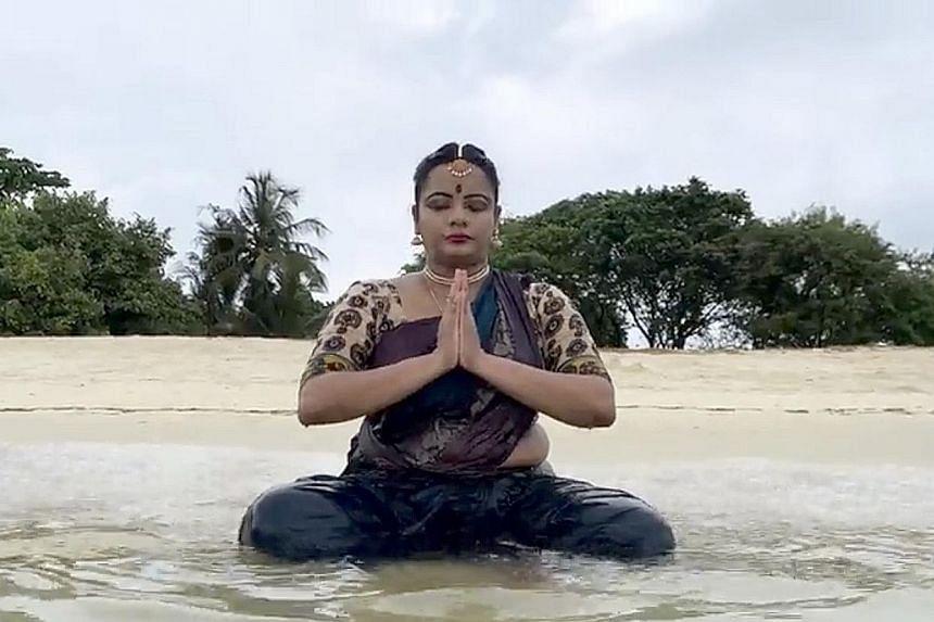 Banupriya Ponnarasu of Apsaras Arts acts and dances in Atlas: A Lyrical Film, a short film for Poetry Festival Singapore.