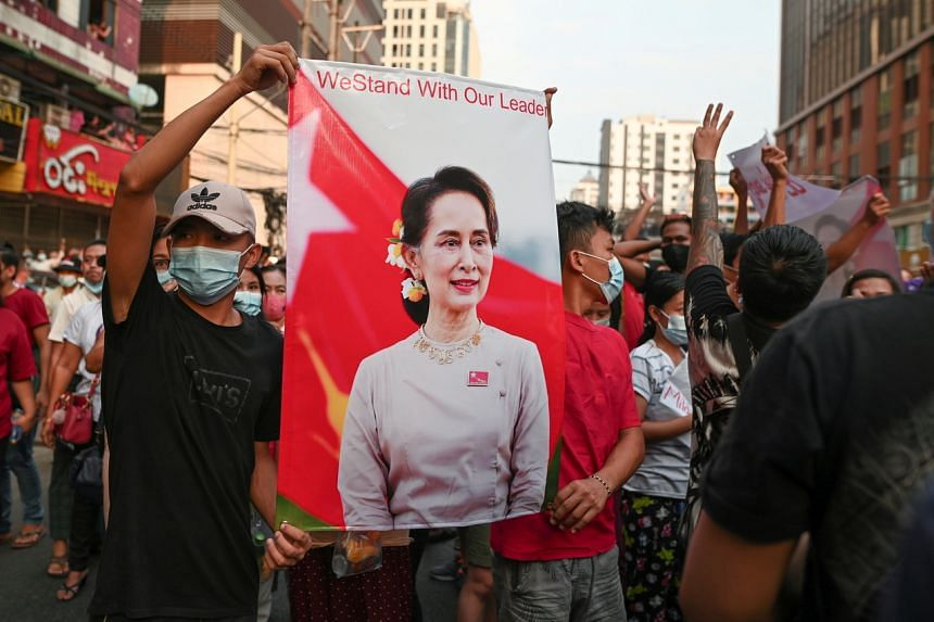 Aung San Suu Kyi remains a revered figure locally for her opposition to a previous junta.