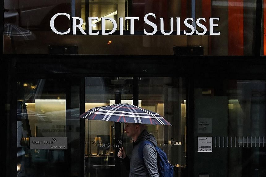 """Credit Suisse said it would use the Archegos debacle """"as a turning point for its overall approach to risk management"""". PHOTO: BLOOMBERG"""