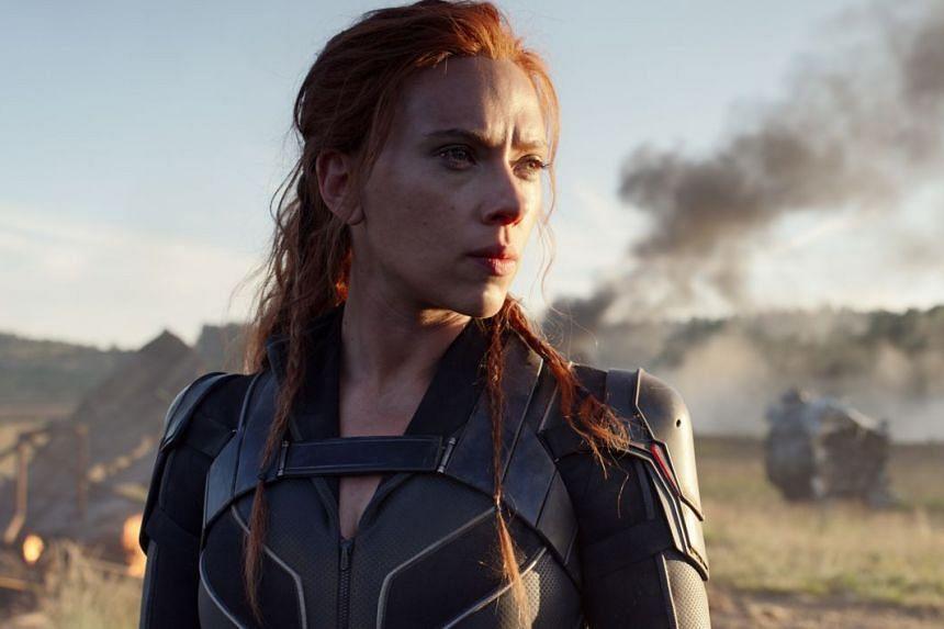 Actress Scarlett Johansson in her role as Black Widow.