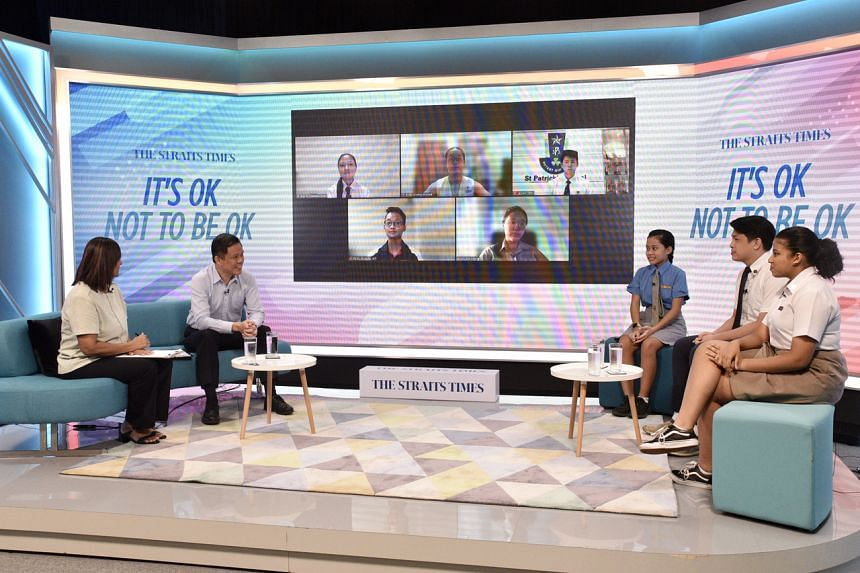 Education Minister Chan Chun Sing at a dialogue with students on mental well-being on July 30, 2021.