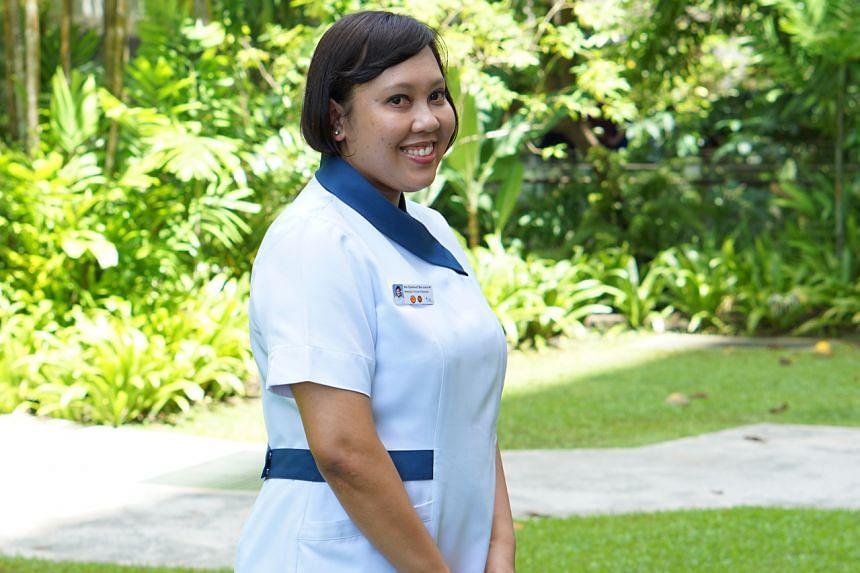 Khoo Teck Puat Hospital nurse Nor Syafawati Jummat.