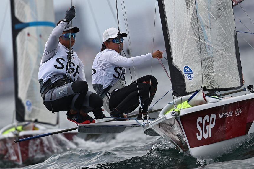 The pair finished with 97 net points after 12 races on July 31 to place ninth out of 21 boats.