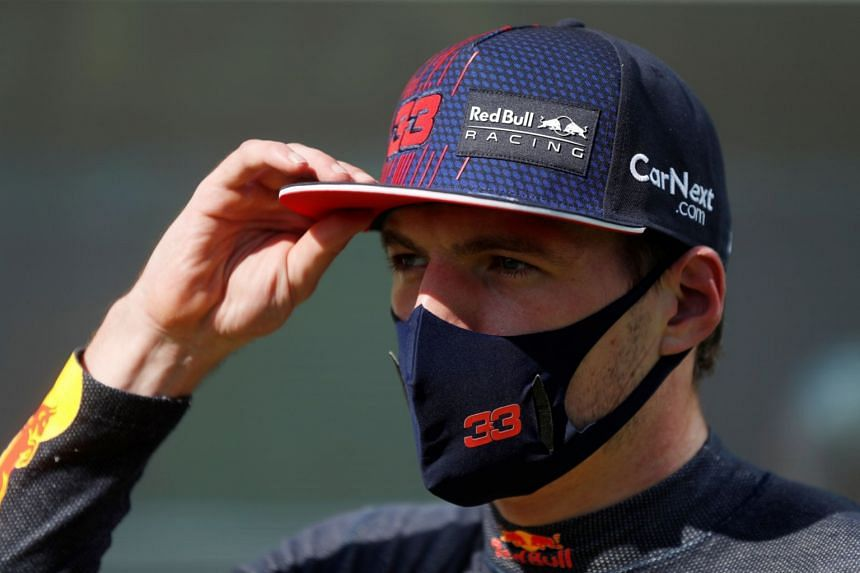 Red Bull's Max Verstappen is pictured after taking third place in the grand prix qualifying session.