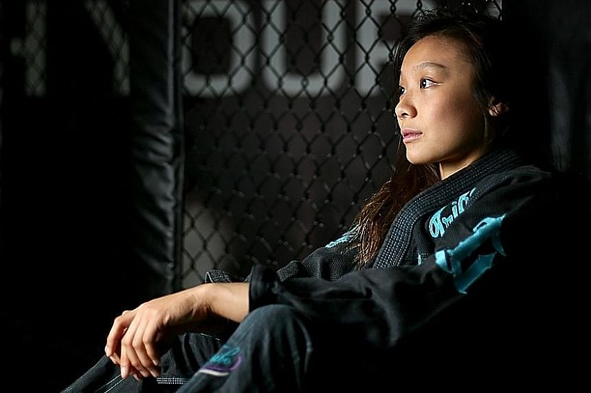 National jiu-jitsu exponent Constance Lien is not afraid to talk about her darker days when she has had to deal with anxiety, depression and an eating disorder. LIANHE ZAOBAO FILE PHOTO