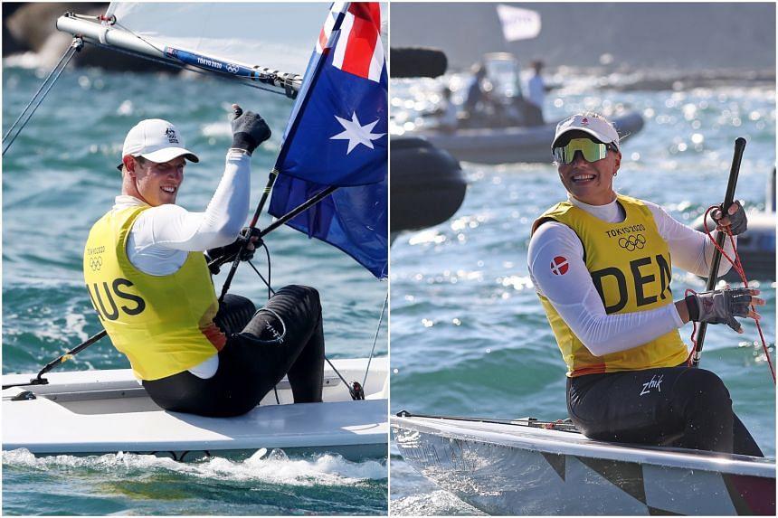 Australia's Matt Wearn (left) and Denmark's Anne-Marie Rindom.