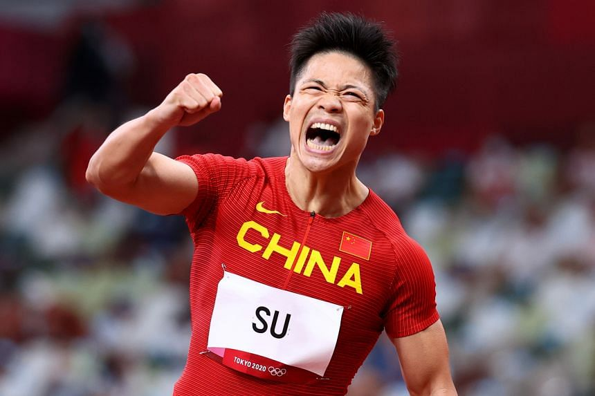 Su Bingtian shattered his previous best of 9.91sec to storm to an impressive semi-final win.