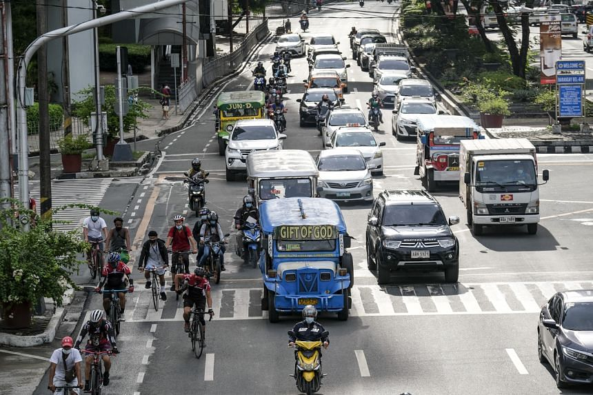 Traffic in Metro Manila, the Philippines, on July 19, 2021.