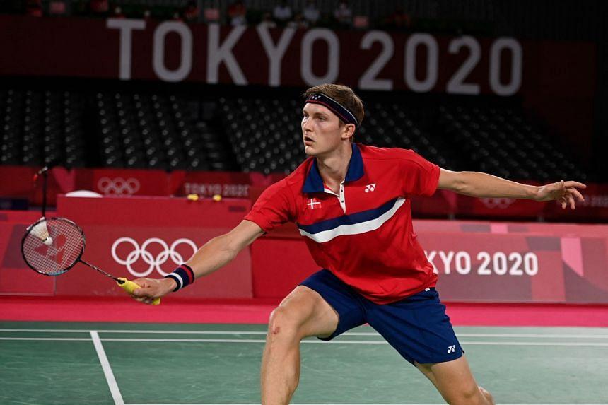 Denmark's Viktor Axelsen won the Olympic badminton men's singles gold medal on Aug 2, 2021.