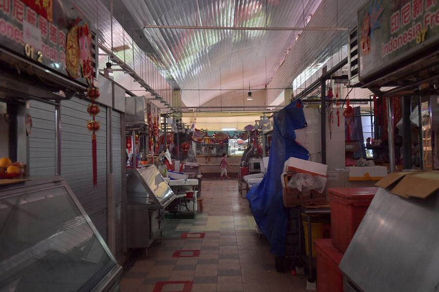 Customers at Chong Boon Market and Food Centre on its first day of reopening, on Aug 3, 2021.