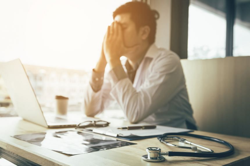 About 81 per cent of the doctors surveyed had symptoms of stress.