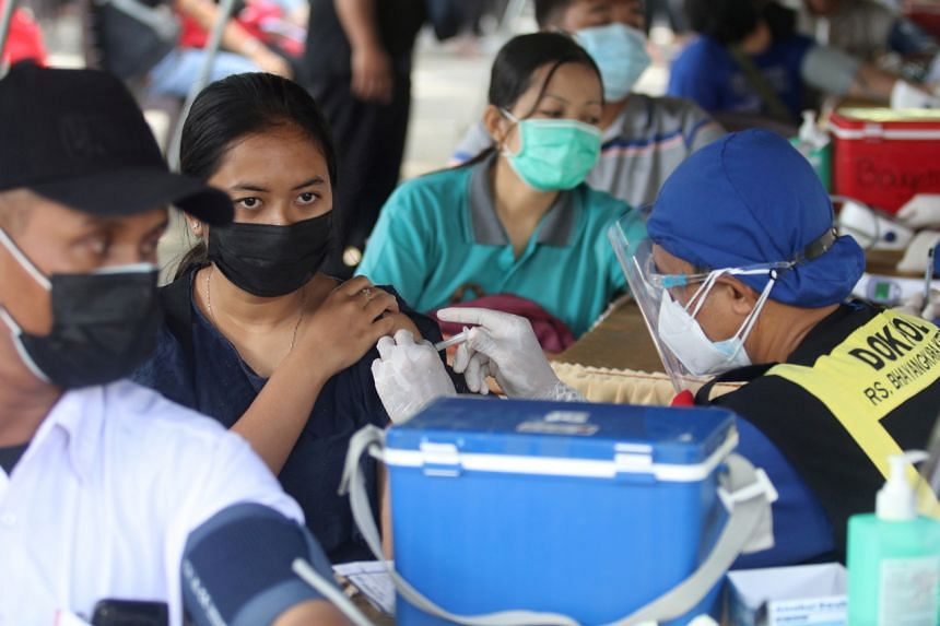 Of the 91 million doses sent to Indonesia's 34 provinces since January, only 68.6 million have been administered.