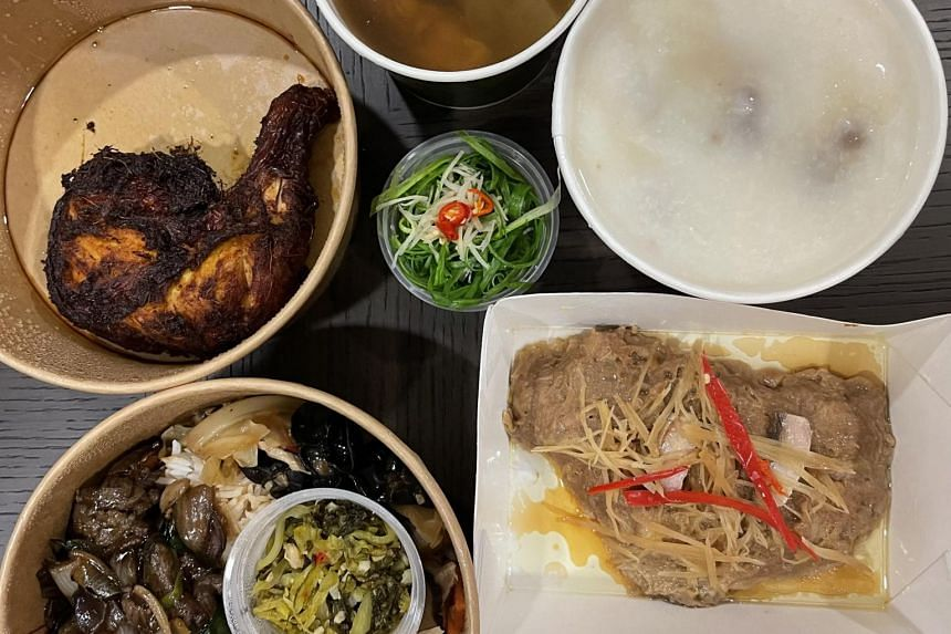Mam Mam at National University Hospital offers islandwide delivery with a minimum order of $50.