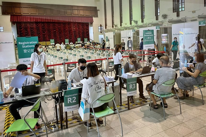 Singapore aims to get about 80 per cent of its population fully vaccinated by early next month.