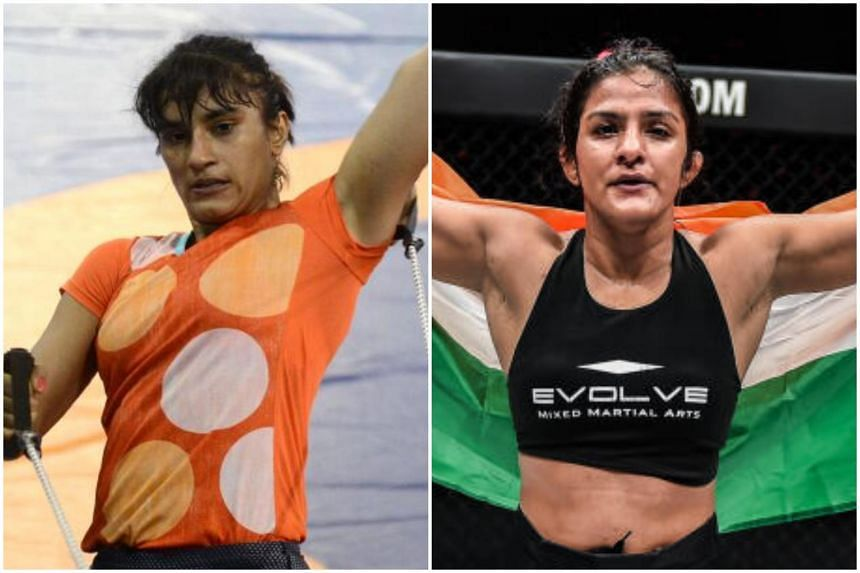 Indian wrestler Vinesh Phogat will be cheered on by her cousin Ritu, who made the switch to MMA in 2019.