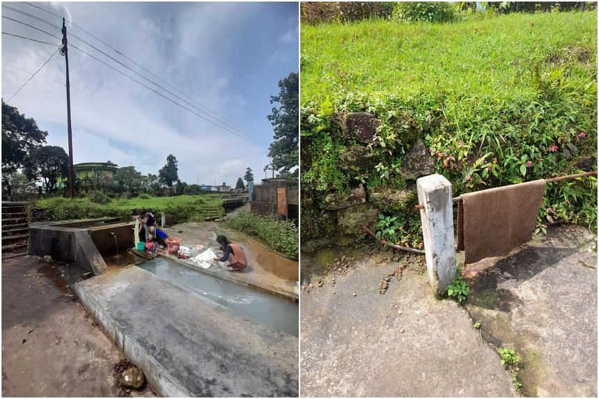 Around 1,800 villagers have no access to government water supply in Mawmluh. Public taps have been dry for over 10 years.