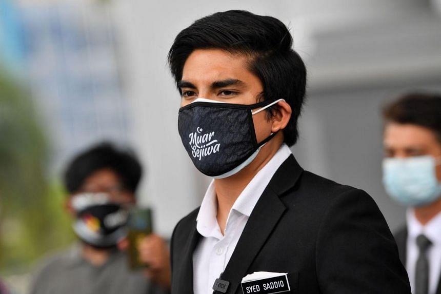 Syed Saddiq had transferred a total of RM100,000 (S$32,000) from his bank account into his Amanah Saham Bumiputera account.